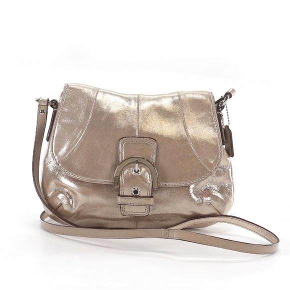 Coach Handbags - Coach Metallic Gold Crossbody bag
